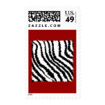 Black Zebra Print Pattern on Deep Red. Stamps