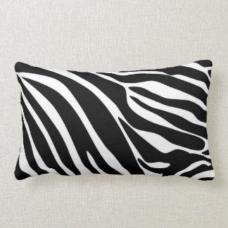 Black Zebra Print Pattern Throw Pillow