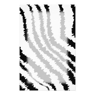Black Zebra Print Pattern. Stationery