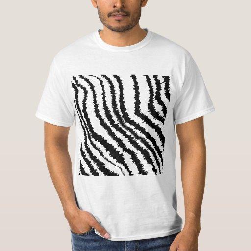 Black Zebra Print Pattern. T-Shirt