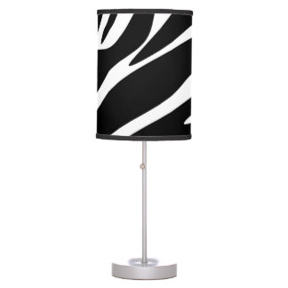 Black Zebra Print Pattern Table Lamp