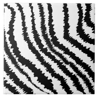 Black Zebra Print Pattern Tiles