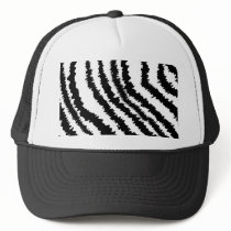 Black Zebra Print Pattern. Trucker Hat