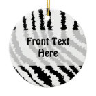 Black Zebra Print. Skin Pattern. Custom ornament