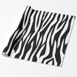 Black Zebra Print Wrapping Paper