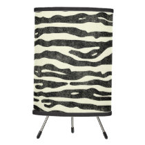 Black Zebra Stripe Animal Print Stylish Pattern Tripod Lamp