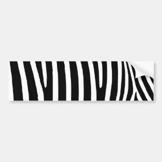 Black Zebra Stripes Car Bumper Sticker