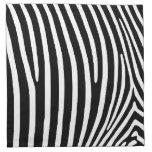 Black Zebra Stripes Cloth Napkin