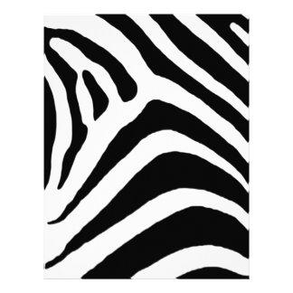 Black Zebra Stripes Letterhead