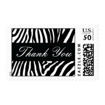 Black Zebra Thank You Postage