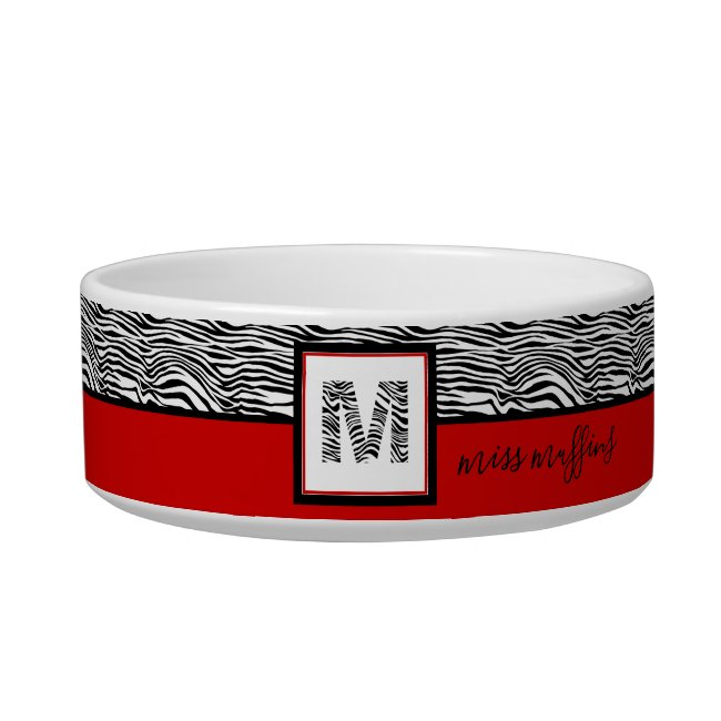 Black Zebra White Tiger Stripes Pattern Monogram