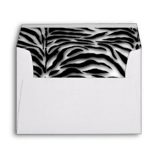 Black Zebra White Zebra Envelope
