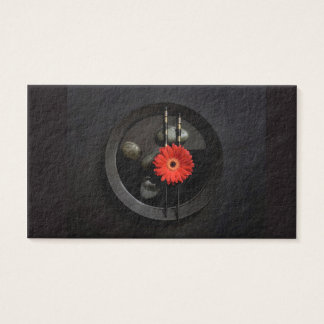 Black Zen Flower Business Card