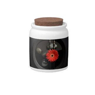 Black Zen Flower Candy Dish