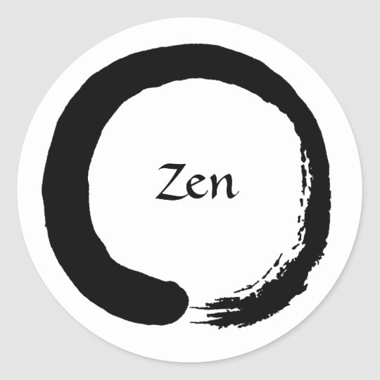 Black Zen Sticker 2