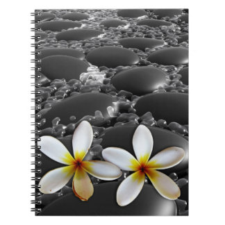 Black Zen Stones Notebook