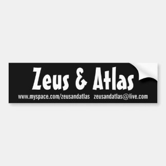 Black Zeus & Atlas Bumper Sticker
