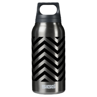 Black Zig Zag 1 Insulated Water Bottle