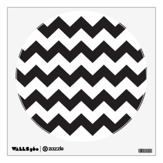 Black zig zags zigzag chevron pattern wall decal