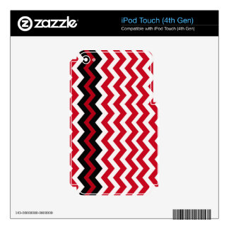 Black Zigzag Border On Red and White iPod Touch 4G Decal