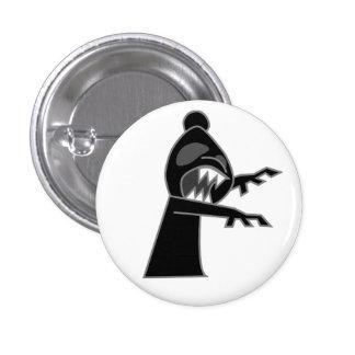 Black Zombie Bishop Button
