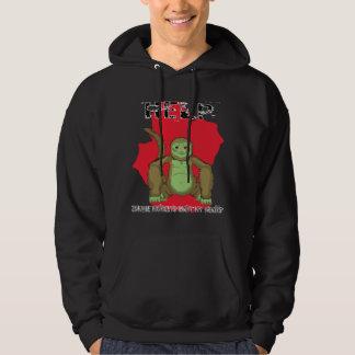 Black Zombie Monkey Hooded Sweatshirt