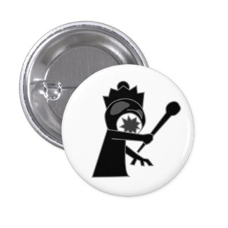 Black Zombie Queen Button