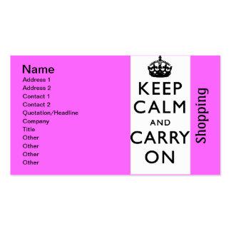 blackandwhite201 - shopping business card template