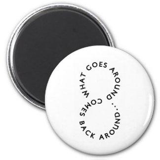 blackandwhite280 2 inch round magnet