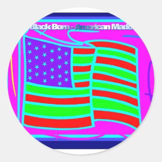 blackbamabstract.PDF Classic Round Sticker