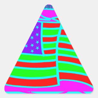 blackbamabstract.PDF Triangle Sticker