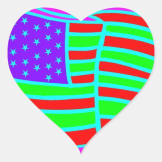 blackbamabstract.PDF Heart Sticker