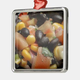 Blackbean and Corn Salad Metal Ornament