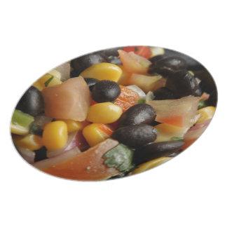 Blackbean and Corn Salad Plates