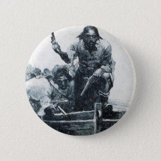 Blackbeard Approaching Pinback Button