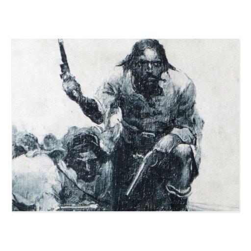 Blackbeard Approaching Post Cards