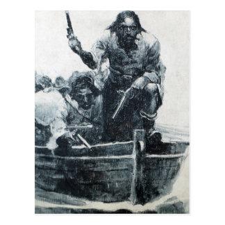 Blackbeard Approaching Postcard