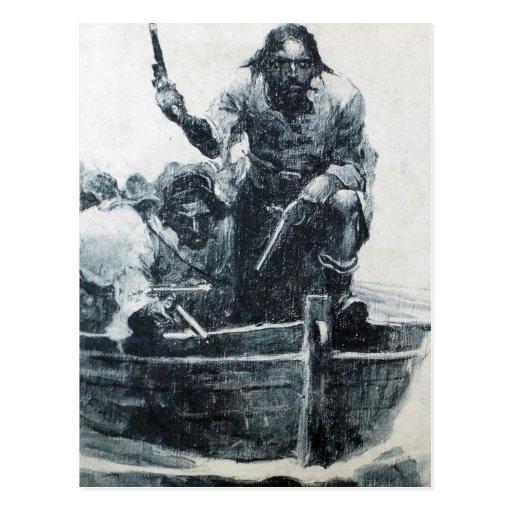 Blackbeard Approaching Postcards