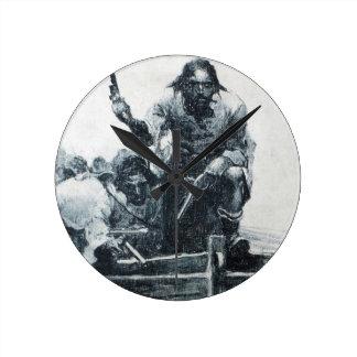 Blackbeard Approaching Round Clock