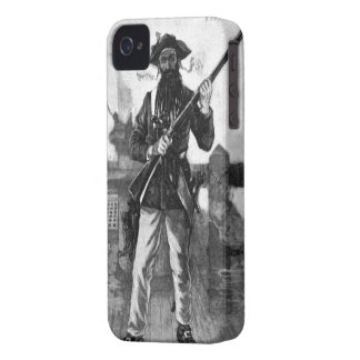 Blackbeard at Attention With Rifle iPhone 4 Cover