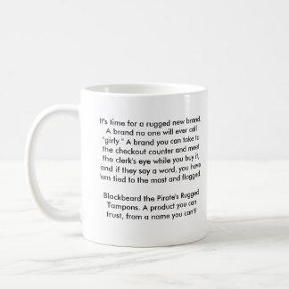 Blackbeard Brand Rugged Tampons Classic White Coffee Mug