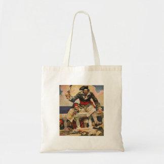 Blackbeard Buccaneer Pirate and Mate Illustration Tote Bag