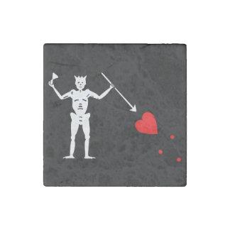 Blackbeard Edward Teach Flag Stone Magnet