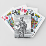 Blackbeard el pirata, 'de una historia general de baraja de cartas bicycle