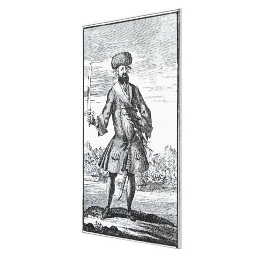 Blackbeard el pirata, 'de una historia general de impresión en lienzo