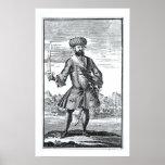 Blackbeard el pirata, 'de una historia general de póster