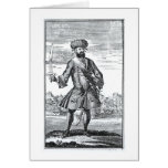 Blackbeard el pirata, 'de una historia general de tarjeta de felicitación