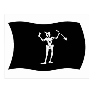Blackbeard Flag Postcard