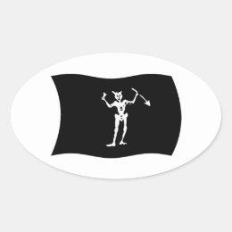 Blackbeard Flag Sticker