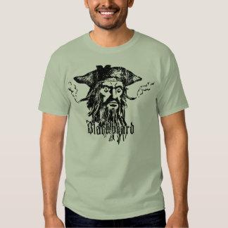 Blackbeard la camiseta del pirata polera